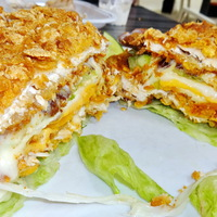 Minden idők legbrutálisabb, legmenőbb sajtos-csirkés szendvicse!