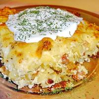 Sütőben sült sajtos-túrós tészta