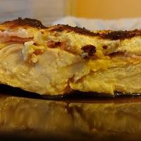 Mustáros-baconös tepsis csirkemell