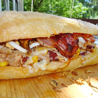 WESTERN kemencés szendvics a Don Pepe havi ajánlatában