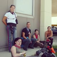#tbt 2004.08.20. Indulás Keszthelyre a Calecon Brothers motoros találkozóra #krapeknők