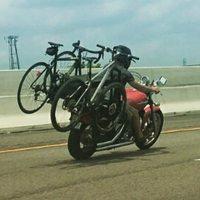 Bicikliszállító tehermotor.
