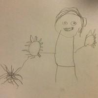 Vámpír karmokkal és pók, ha nem lenne egyértelmű.