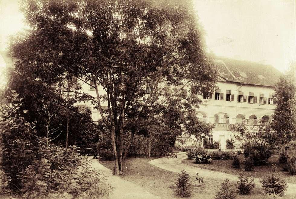 A Széchenyi szárny, az egykori nyári lak 1899 környéként, forrás: FORTEPAN/Budapest Főváros Levéltára