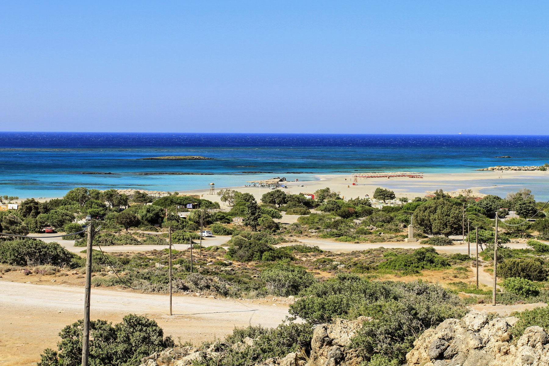 Elafonissi strandja távolról