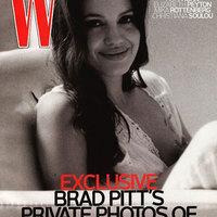Angelina Jolie a W címlapján szoptat