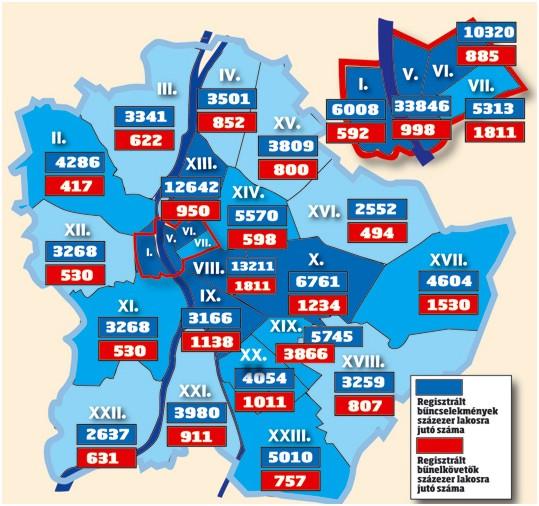 bűnözési térkép budapest Budapest bűnügyi térképe szerint Csepel viszonylag békés kerület  bűnözési térkép budapest