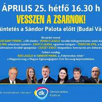 Ma délután tüntetés lesz a demokráciáért a Sándor Palota előtt