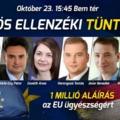 Közös ellenzéki tüntetés lesz kedden  délután Budapesten, a Bem téren