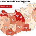 Ki mondja meg erről a térképről, hogy hány csepeli betegedett meg?