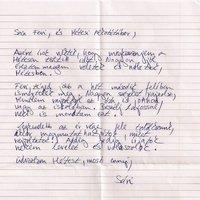 Sári levele Lajosnak és Ferinek