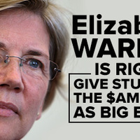 Elizabeth Warren harca a giga-bankokkal