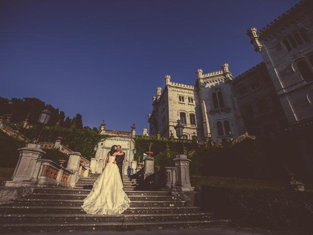 Esküvői kreativ fotózás Triesztben