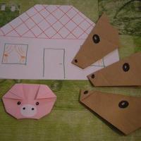 Mesélj origamival! A kismalac és a farkasok (házikó)
