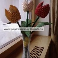 3d origami tulipán