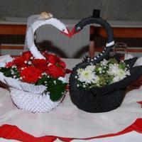 Origami esküvői dekoráció