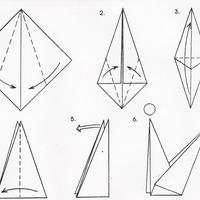 Lépésről-lépésre origami tulipán
