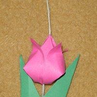 A három pillangó c.mese origami tulipán hajtogatása