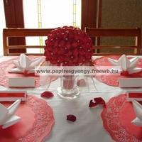 Esküvői asztali dekoráció