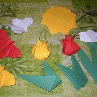 Mesélj origamival!A három pillangó c. mese origami liliomja