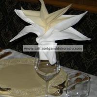 Szalvéta origami dekoráció