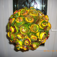 Őszi dekoráció: levélrózsa elkészítése
