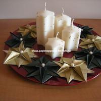 Origami adventi koszorú
