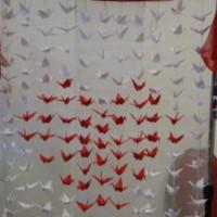 Origami háttérfal esküvőre