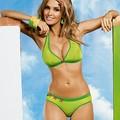 3 részes Zöld pöttyös cukiság bikini tangával