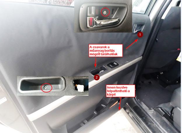 Autó ajtó szerelés