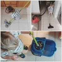 Mazsola takarít