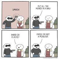 Nem vagyunk szörnyetegek - papír zacskót kérünk
