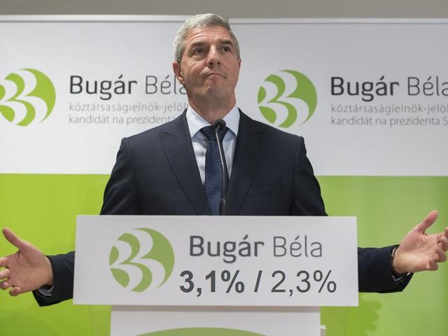 Téves Bugár 3,1 százaléka!