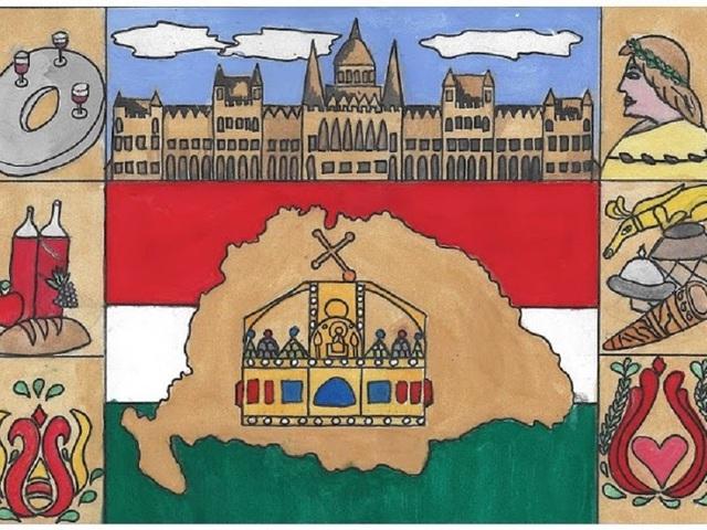 Ünnepi rajz- és esszépályázat a magyar címer és zászló megünneplésére