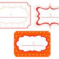 Nyomtatható narancsszínű matricák
