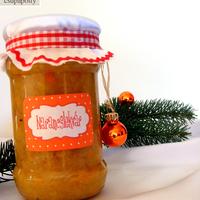 Gasztroajándék: Fűszeres narancslekvár nyomtatható címkével
