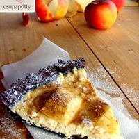 Almás-túrós pite