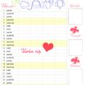 Nyomtatható családi tervező naptár februárra