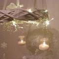 Karácsonyi függőkoszorú mécsesekkel 2. rész