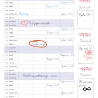Nyomtatható családi tervező naptár januárra