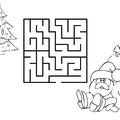 Karácsonyos kifestők labirintussal