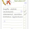 Karácsonyi készülődés - nyomtatható teendő lista