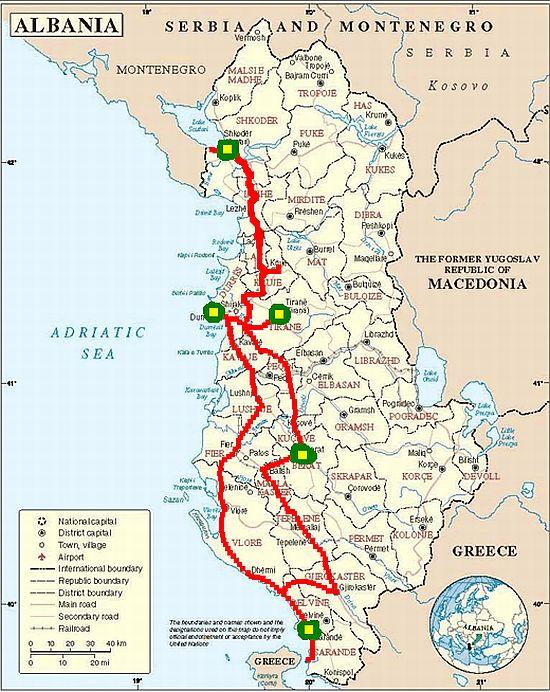 Albania Bevezeto Csurtusek Utaznak