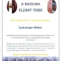 A Főszékesegyházi Kincstár októberi programjai