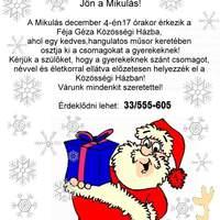 December a Féja Géza Közösségi Házban