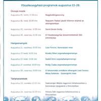 Főszékesegyház augusztusi ünnepi programjai