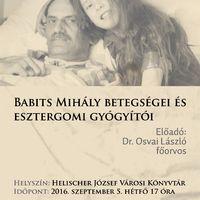 BABITS MIHÁLY BETEGSÉGEI ÉS ESZTERGOMI GYÓGYÍTÓI