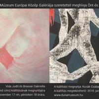 Vida Judit és Brassai Gabriella képei a Duna Múzeumban