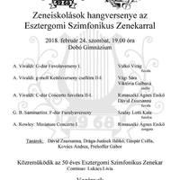 Zeneiskolások hangversenye az Esztergomi Szimfonikus Zenekarral