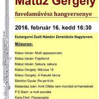 Matuz Gergely fuvolaművész hangversenye